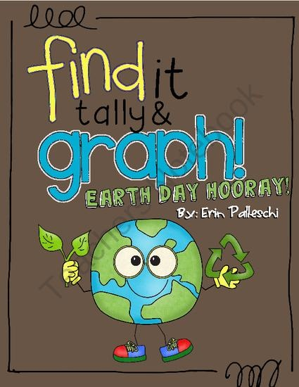 Find it, Tally & Graph! - Earth Day Hooray + Bonus Writing Activity from Once Upon A Classroom by Erin Palleschi on TeachersNotebook.com (8 pages)  - Find it, Tally & Graph - Earth Day Hooray!