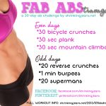FAB ABStravaganza! A 30-Day Ab Challenge {monthly workout calendar}