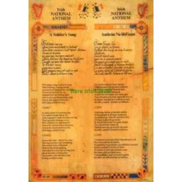 Irish National Anthem English / Gaelic Ireland Print