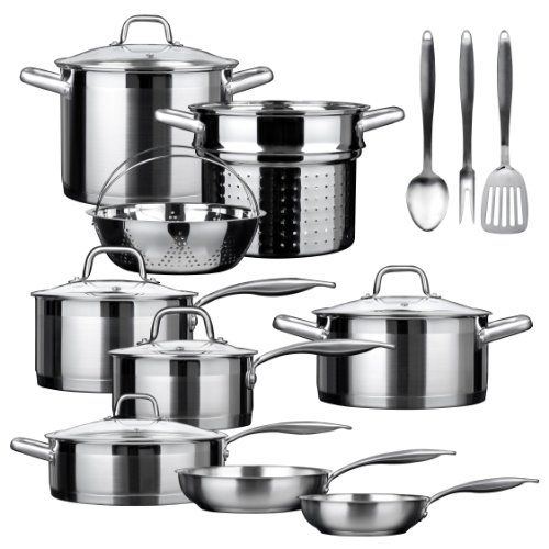 Duxtop SSIB17 Professional 17 piece Stainless Steel Induction Cookware Set Impactbonded Technology * You can get more details by clicking on the image.