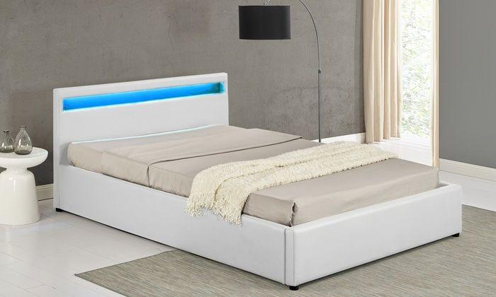 Groupon Goods Global GmbH: Lit coffre Otis LED avec ou sans matelas à mémoire de forme, coloris et tailles aux choix dès 299,90 € (jusqu'à -67%)
