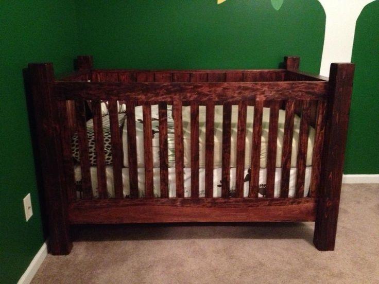 Rustic Wood Crib   Wood crib, Baby furniture, Rustic