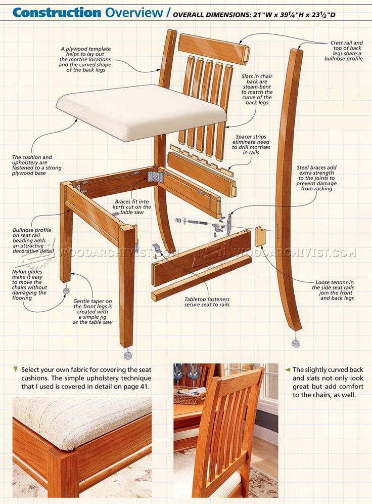 2031 dining chair plans furniture plans woodworking for Free dining chair plans