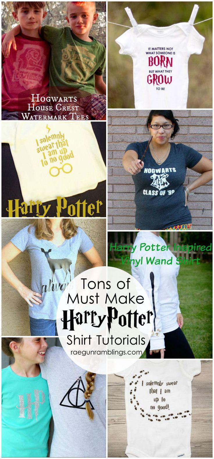Love all these Harry Potter shirts. SO many great tutorials