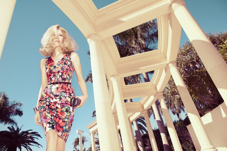 David Lawrence shot their Spring Summer 2012 campaign at the Palazzo Versace in their stunning porte-cochere.