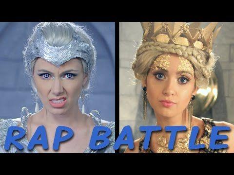 SNOW WHITE vs ELSA: Princess Rap Battle (Whitney Avalon ft. Katja Glieson) *explicit* - YouTube