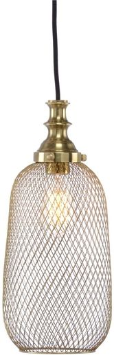 Pendant WILDWOOD LAMPS LIPTON 1-Light Antique Brass Metal Mesh New Hardw WL-2416