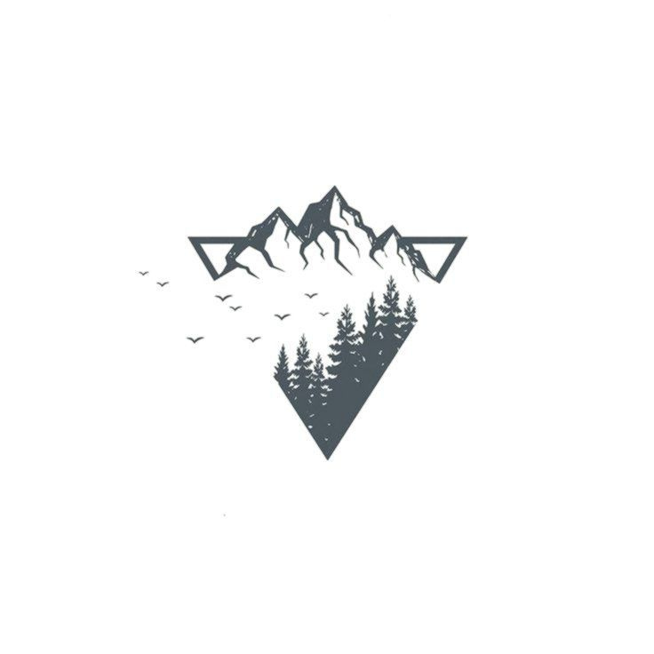 All Kinds Of Hairstyles For Women Best Trends Geometric Mountain Tattoo Mountain Tattoo Small Mountain Tattoo