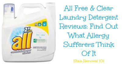 Lots of All Free & Clear detergent reviews, from people who suffer from laundry allergies (both positive and negative) {on Stain Removal 101}