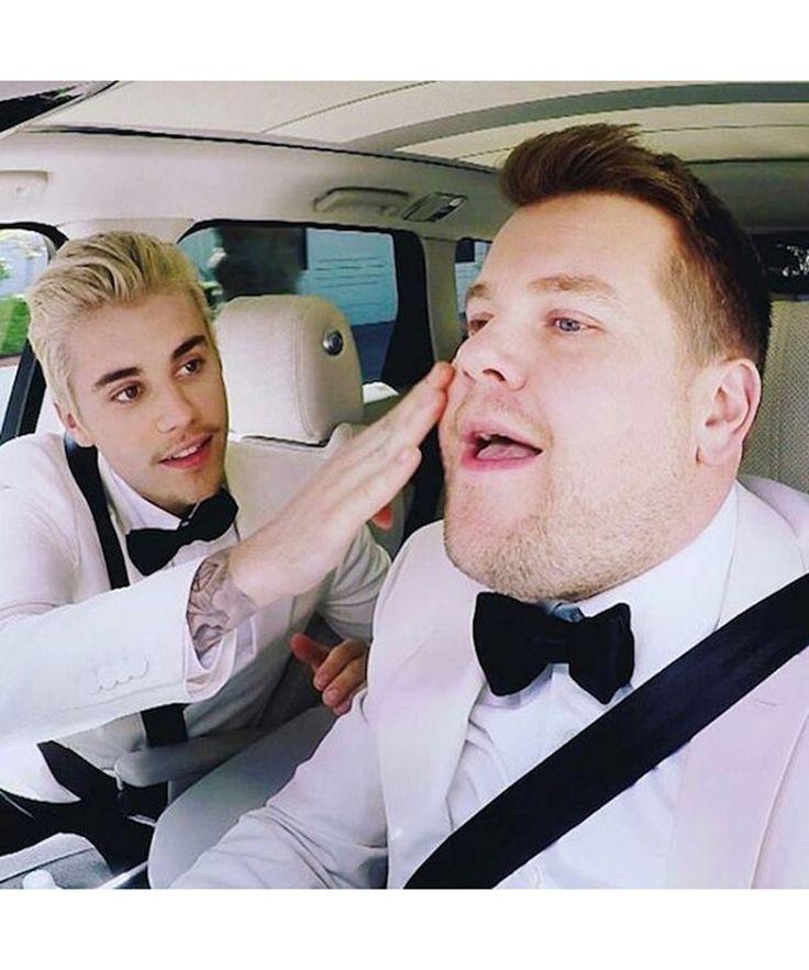 "James Corden: ""Another Carpool Karaoke with Justin Bieber #GRAMMYs"" - @jkcorden"