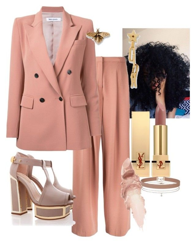 """WOMEN-MONTH-DAY"" by staydiva on Polyvore featuring moda, Bianca Spender, Kat Maconie, Yves Saint Laurent, Maybelline y Miss Selfridge"