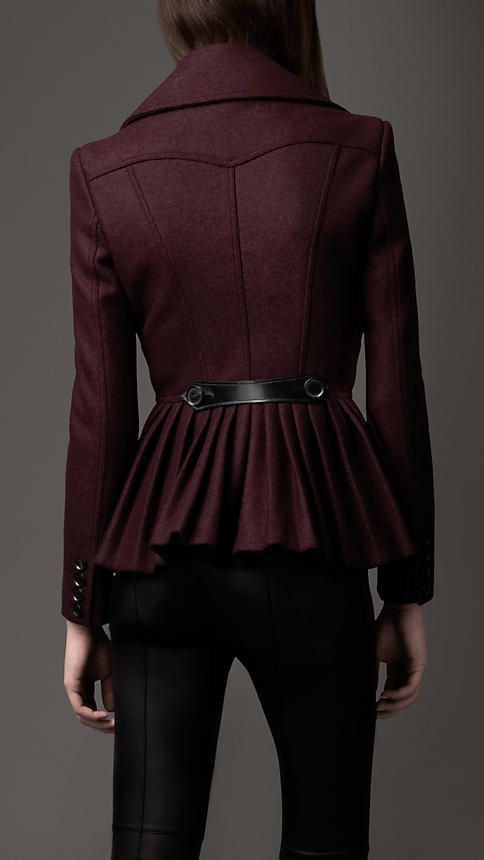 I am iffy about the whole peplum thing. Except when it applies to jackets, in which case I am 100% in favor. This one is by Burberry.