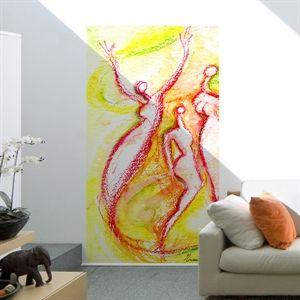 GoBig Joyful #TizianaBramati #wallpanel #homedecor
