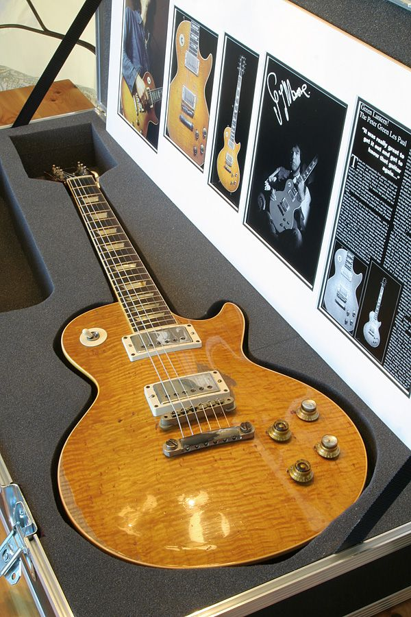 "Gary Moore's 1959 ""Peter Green"" Les Paul... like the fitted case"