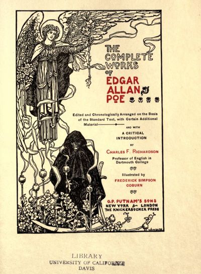the first literary works of edgar allan poe Edgar allan poe was an american author, poet, editor, and literary critic he was one of the first american short story writers he is known as the inventor of the detective fiction genre, and for contributing to the emerging science fiction genre his works include classics like the raven and the fall of the.