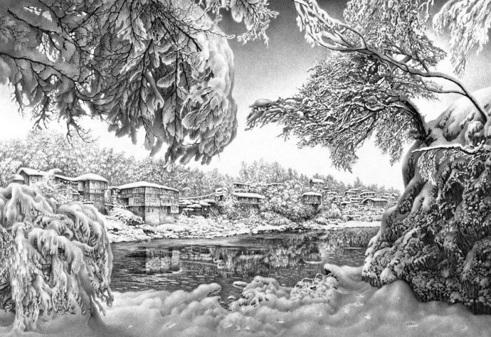 карандашный рисунок Гурам Доленджашвили - 02