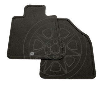 Traverse Floor Mats, Front Carpet Replacements, Ebony: These Carpet Replacement Floor Mats for the front of your vehicle duplicate your original production floor mats exactly. Carpet Replacements - Captains Chairs (AQ4), Ebony (19i, 24i)