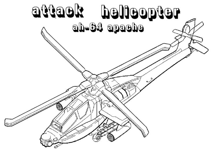 Free Printable Helicopter Coloring Pages For Kids in 2020