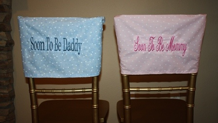 baby shower chair cover soon to be mommy or soon to be dad