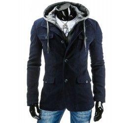 Pánský kabát BRUNO - modrý | TAXIDO fashion