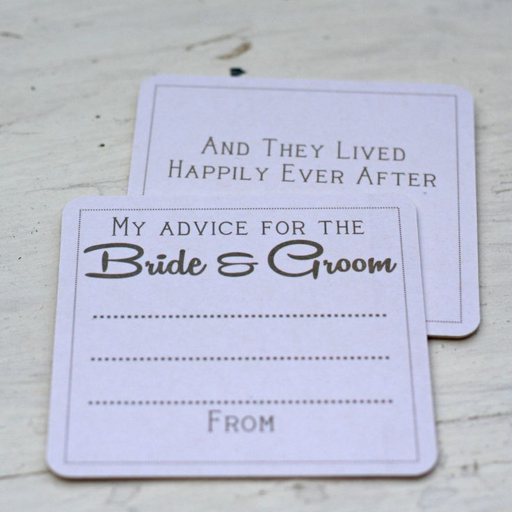 Advice For The Bride And Groom Coasters Rustic - Set Of 10