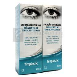 Solución Para Lentes de Contacto Tiraplastic 360+360 ml.