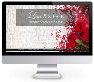 'Roses' theme wedding website by ourbigdayinfo.com. Create your free trial with this wedding website!