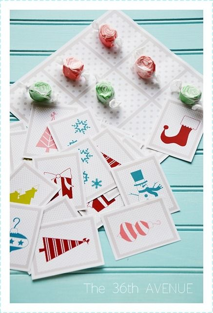 Christmas Games. { Tic, Tac, Toe and Memory Cards } Free Printables.