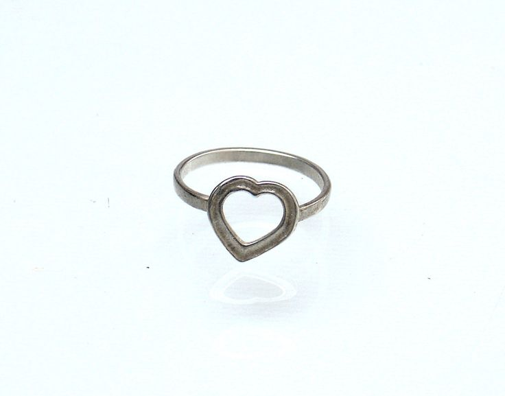 Heart Midi Ring - Silver Heart Ring - Heart Knuckle Ring - Tiny Heart Ring - Mid Knuckle Ring - Love Ring - Girlfriend Gift - Love Jewelry by profoundgarden on Etsy