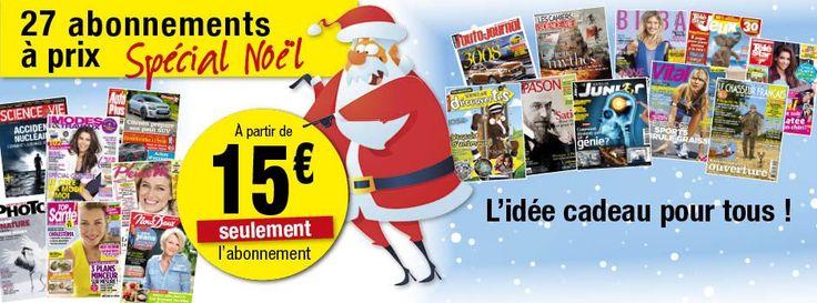 Noël 2014 29 Magazines à partir de 15 € ; Grazia, Closer, Biba, Science&Vie, Auto Plus, Mode&Travaux, Pliene Vie.......