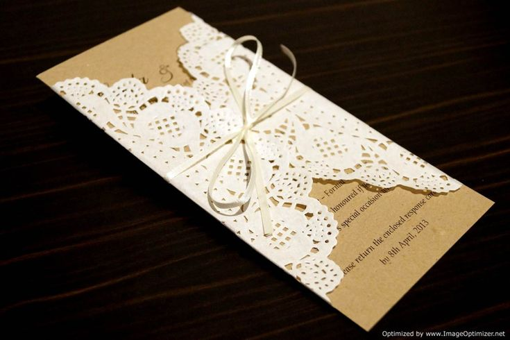 Rustic Chic Wedding Invitation SAMPLE Paper Doily / Doilies recycled card