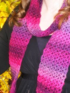 It's only fair to share...  I created this scarf as a quick project to wear with my black dress and new tall boots. I wanted something I could crochet super fast and that was very easy. The Red Heart Boutique Unforgettable yarn is absolutely beautiful and turned this simple scarf into something special. Perfect …