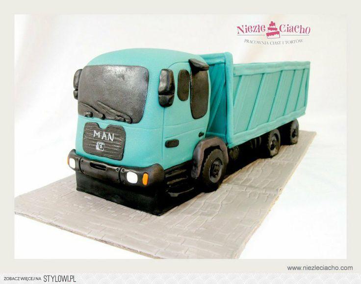 Samochód ciężarowy, ciężarówka, tort dla kierowcy, torty dla dorosłych, tort urodzinowy, śmieszne torty, Tarnów