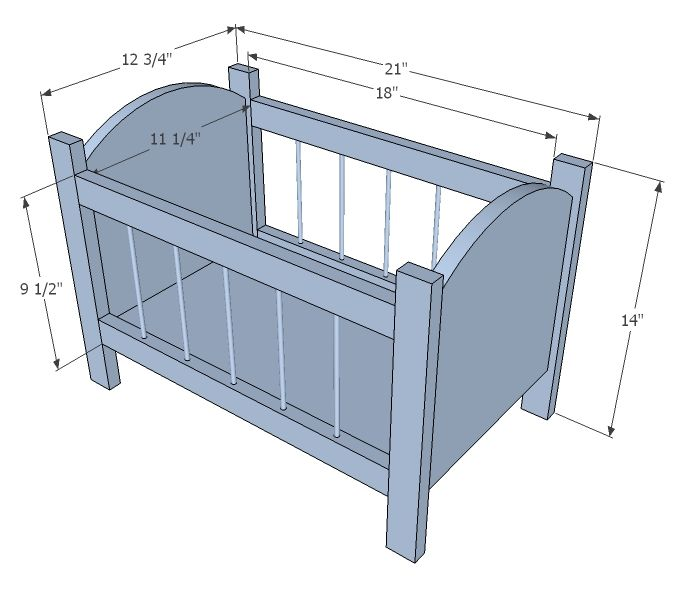 Building a Baby Cradle | Ana White | Build a Fancy Baby Doll Crib | Free and Easy DIY Project ...