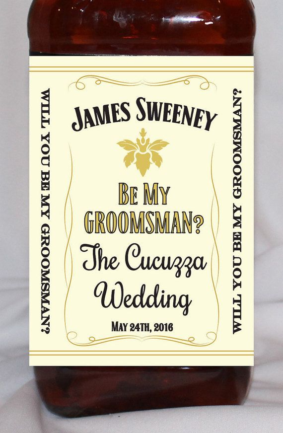 Will You Be My Groomsman Personalized Honey Whisky by BCDesignsLLC
