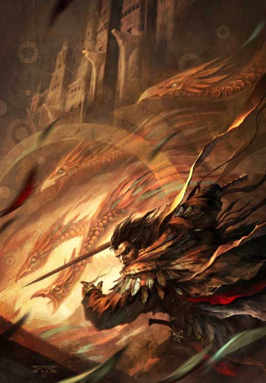 """Raymond Swanland Art; Cover of """"The Summer Palace"""" by Lawrence Watt-Evans"""