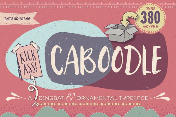 Caboodle dingbat typeface by Lisa Glanz on Creative Market