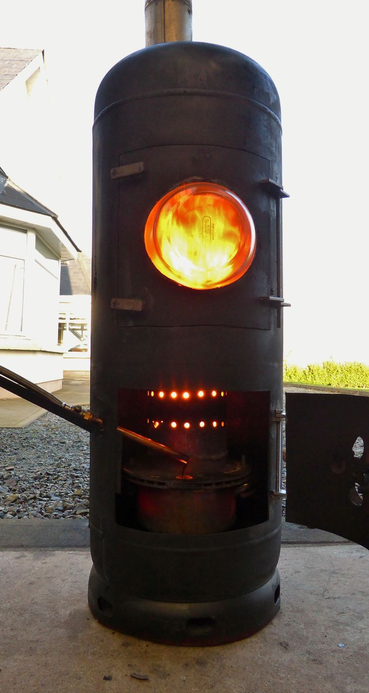 230 best waste oil heater images on pinterest oil heater for How to make a homemade stove