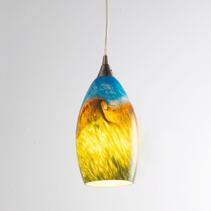 Mini Pendant Lights With Seeded Glass Organic Swirl Art Glass Pendant An Idea For My Kitchen Bar