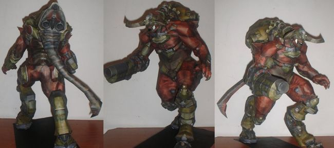 Doom 3 - Cyberdemon Free Papercraft Download - http://www.papercraftsquare.com/doom-3-cyberdemon-free-papercraft-download.html#Cyberdemon, #DOOM