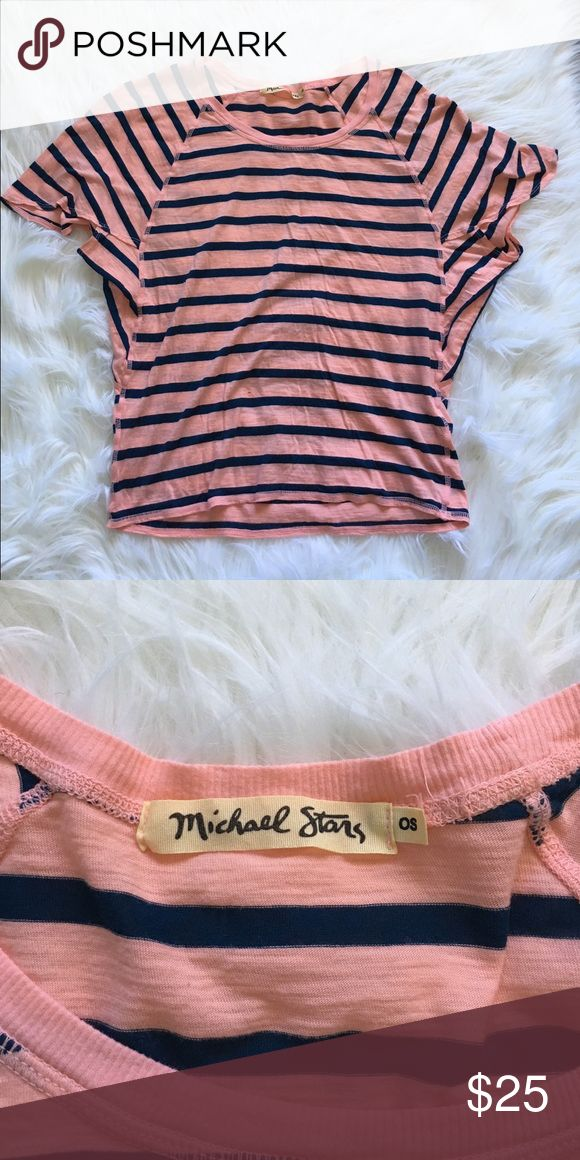 """Michael Stars Dolman Striped Batwing T Shirt Top Excellent condition with no flaws and tons of life left! Tag says """"one size"""" fits a medium best. NO TRADES PLEASE & BUNDLES ARE DISCOUNTED Michael Stars Tops Tees - Short Sleeve"""