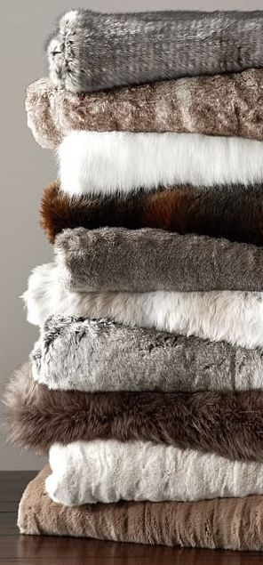 You can never have too many Faux Fur Throws..hint, hint.