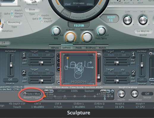 Morphing Sounds in Logic Pro's Sculpture—Step-by-step tutorial;