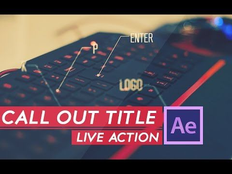 AFTER EFFECTS TUTORIAL :Live Action Call out Title in after effects