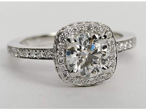 Stunning. I would say yes. Halo diamond engagement ring. 1.8 carat cushion cut