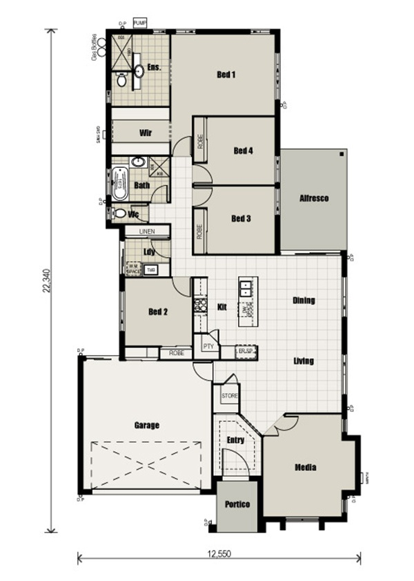 11 best House Plans images on Pinterest Plants, 3\/4 beds and Anchors - badezimmer a plan