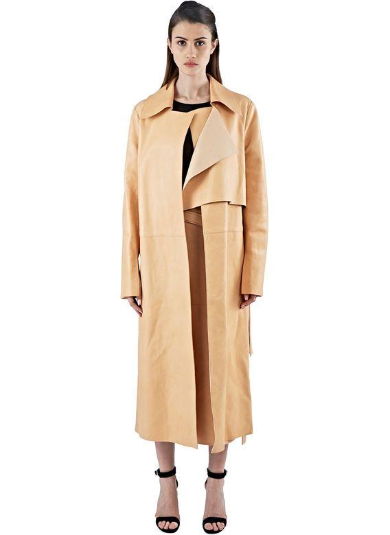 Calvin Klein Collection Gabine Leather Coat | LN-CC