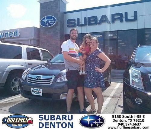 Thank you to Michelle  Keefer on the 2012 Subaru Outback from Mike Bresnahan and everyone at Huffines Subaru Denton!