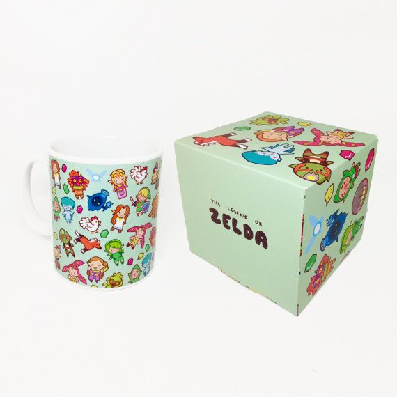 The Legend of Chibi Pattern ~ The Legend of Zelda ~ Mug and Box Set