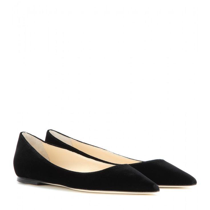 Black Ballet Flats, Black Ballerina, Ballerina Shoes, Black Flats, Jimmy  Choo, Black Velvet, Velvet Shoes, Latest Updates, Ballerinas